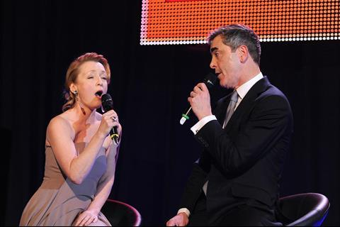 Lesley Manville and James Nesbitt